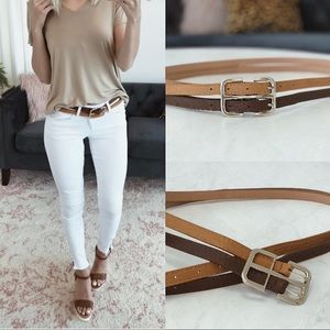 Brown and Gold Double Belt NWT